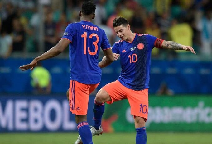 James y Yerry Mina - Selección Colombia