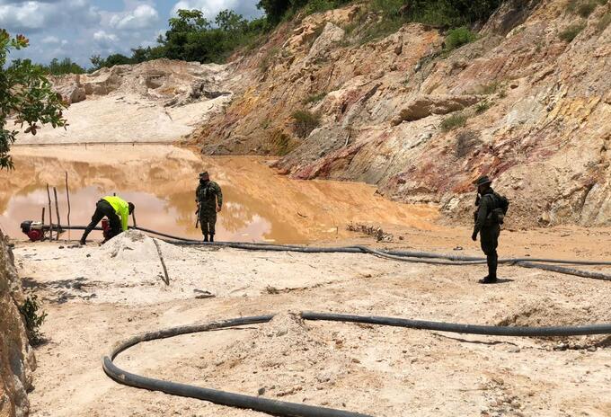 En el operativo incautaron minería ilegal.