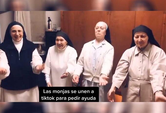 Monjas publican video TikTok para pedir donaciones