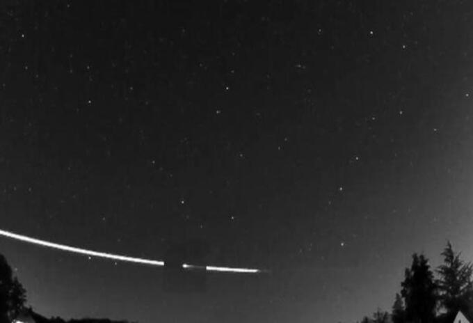 Meteorito rebotó en la atmósfera de la Tierra y regresó al espacio