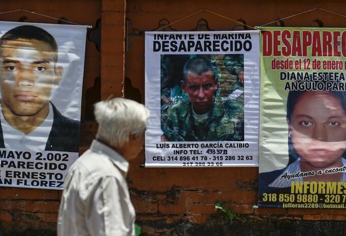 Búsqueda de personas desaparecidas en Colombia.