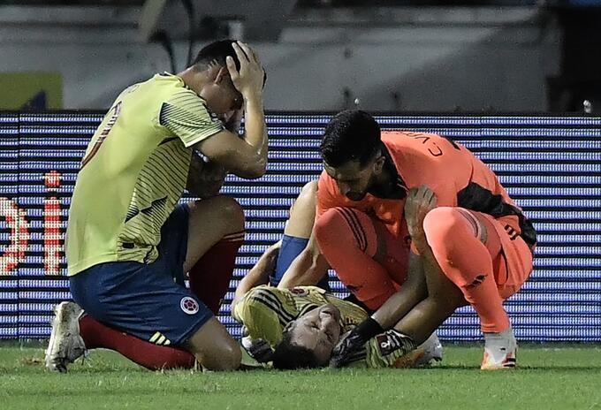 Lesión Santiago Arias, Selección Colombia