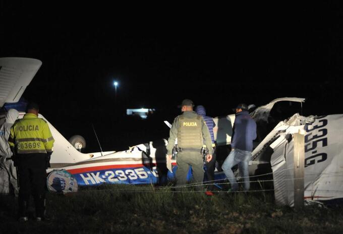 Avioneta accidentada en Ubaté (Cundinamarca)
