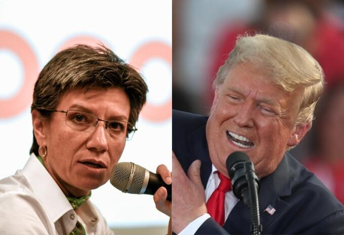 Claudia López y Donald Trump