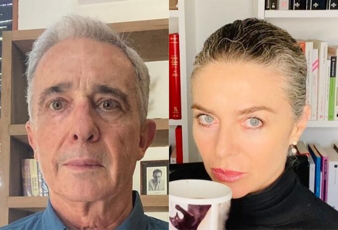Álvaro Uribe Vélez y Margarita Rosa de Francisco
