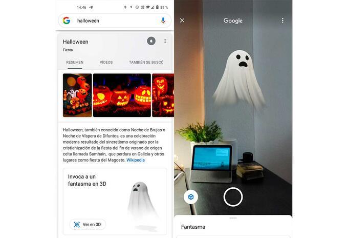 Fantasma en 3d con realidad aumentada en Google
