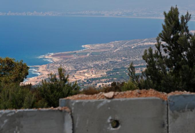Frontera entre elLíbano e Israel