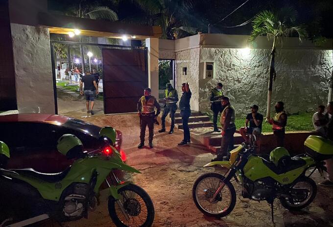 La Policía intervino las fiestas clandestinas.
