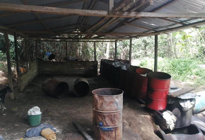 Ejercito desmantela laboratorio de drogas en zona rural de Tibu