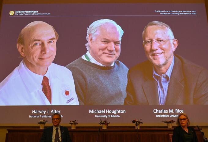 Ganadores de Nobel de Medicina 2020