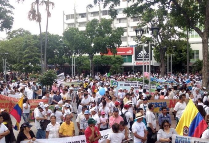 Protestas de las centrales obreras