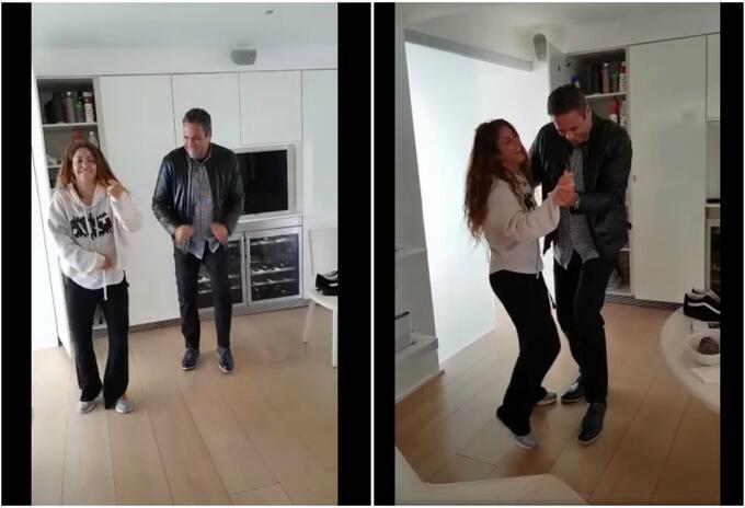 Shakira bailando con su hermano