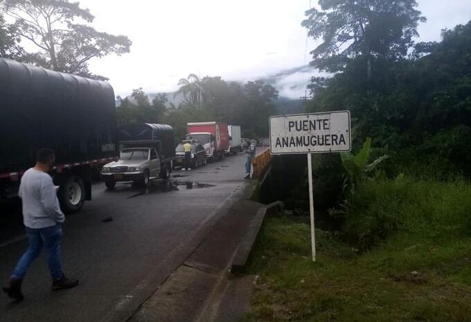 Cierre vía Panamericana