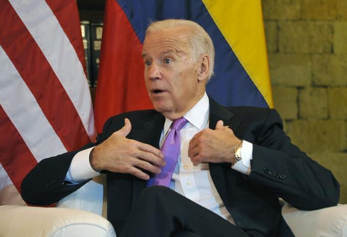 Joe Biden, de visita en Colombia, cuando era vicepresidente de Estados Unidos.