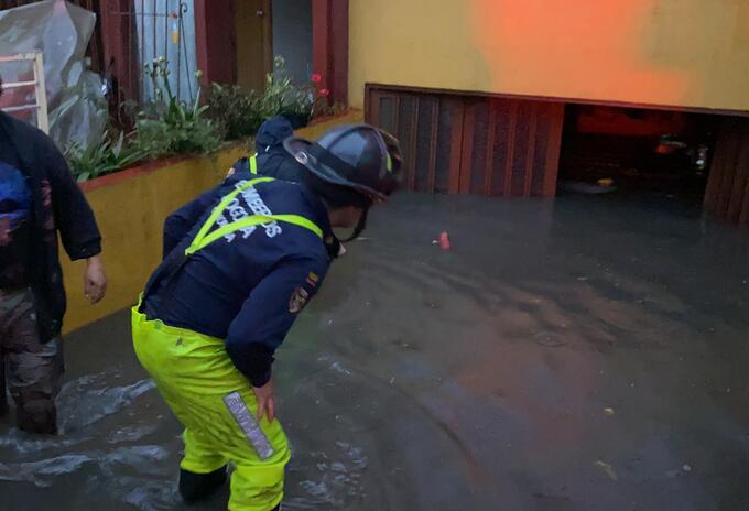 Inundaciones por lluvias en Bogotá