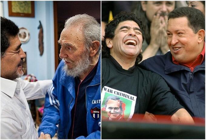 Maradona, Castro y Chávez