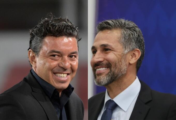 Marcelo Gallardo y Mario Alberto Yepes