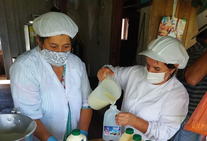 Mujeres campesinas municipio de Cabrera