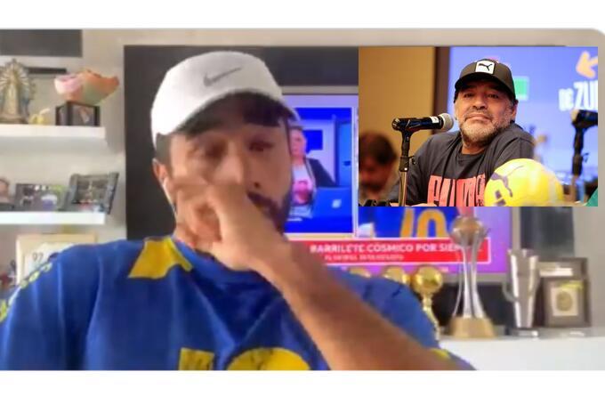 Fabián Vargas y su llanto por la muerte de Diego Maradona
