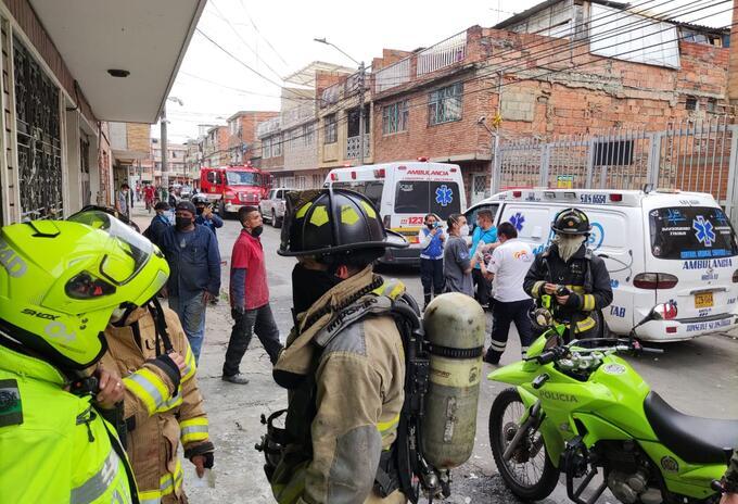 Explosión en el barrio Galán, Bogotá