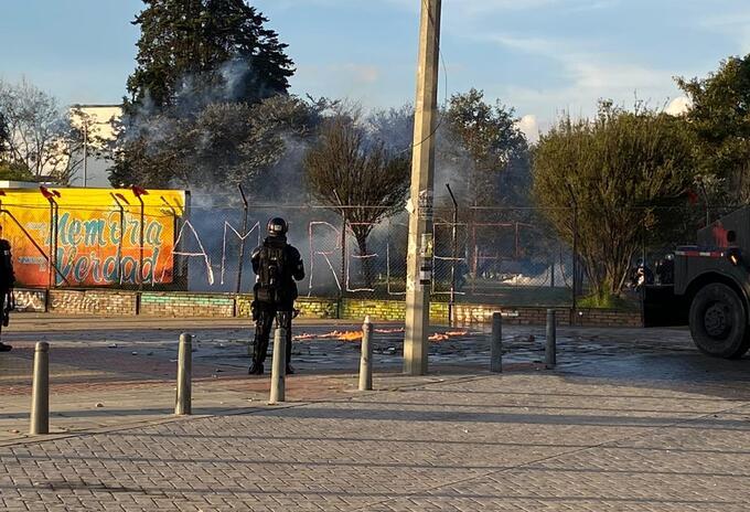 Disturbios en Bogotá 21 de noviembre de 2020