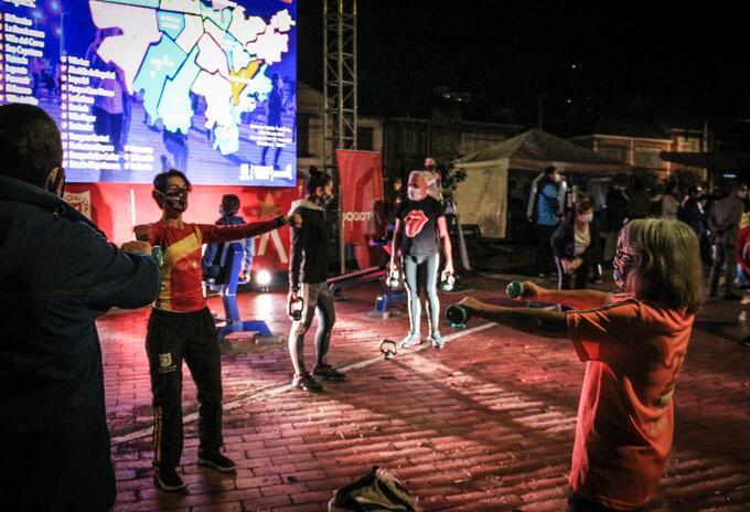 Gimnasios gratuitos nocturnos en Bogotá