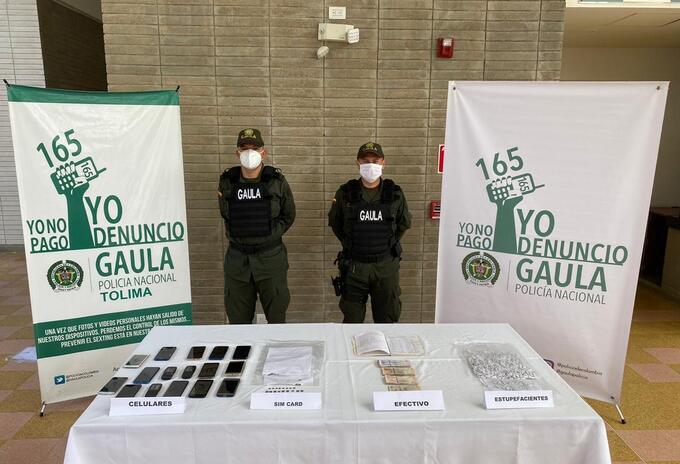 Incautación en cárcel de Ibagué.