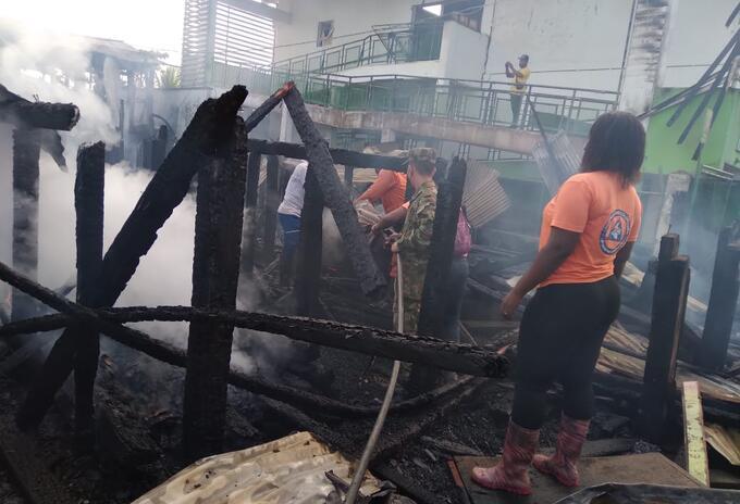 Incendio en Riosucio, Chocó