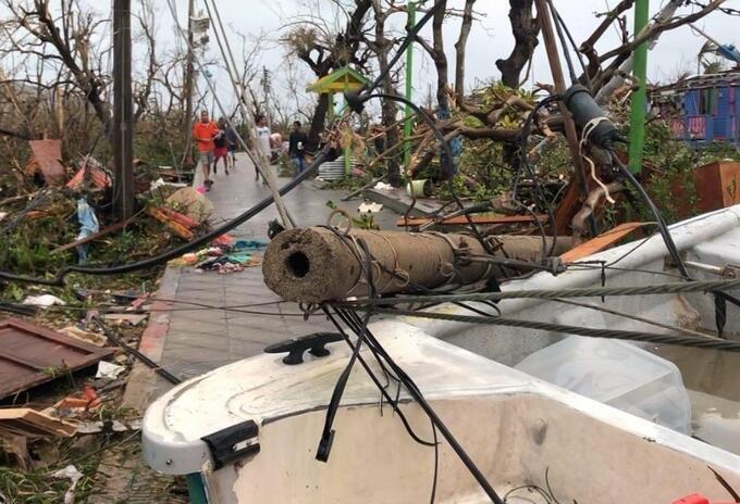 Santa Catalina después del paso del huracán Iota.