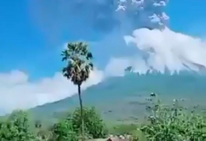 Volcán en Indonesia