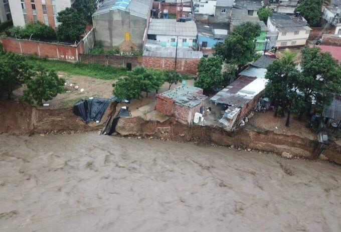 Sector de San Rafael en Cúcuta afectado por lluvias