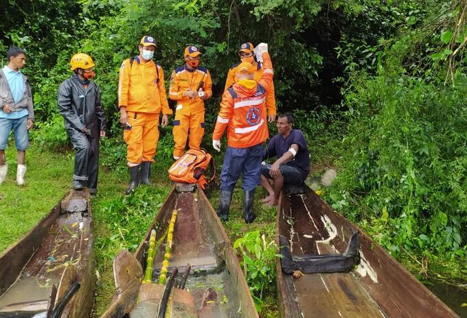 Los hombres se encontraban a la deriva en el embalse El Guájaro.