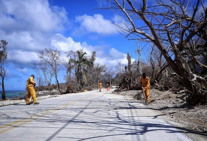 Inició la reconstrucción de las vías afectadas por el huracán Iota en San Andrés y Providencia