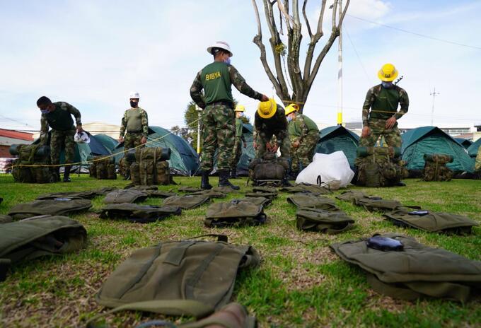 Ingenieros militares llegan a Providencia para ayudar con las labores de reconstrucción de la isla