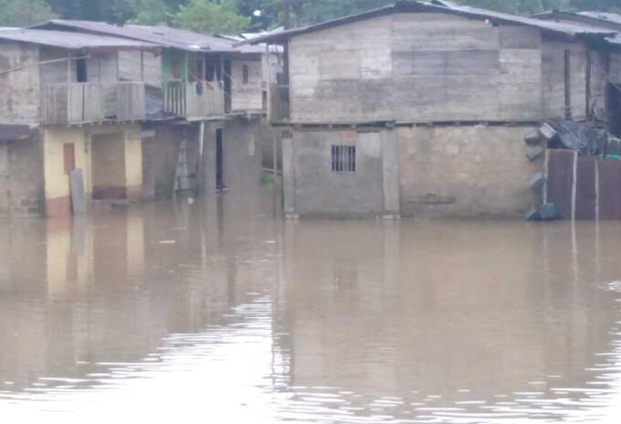 Corregimiento Baraudo en Lloró, Chocó, se inundó.