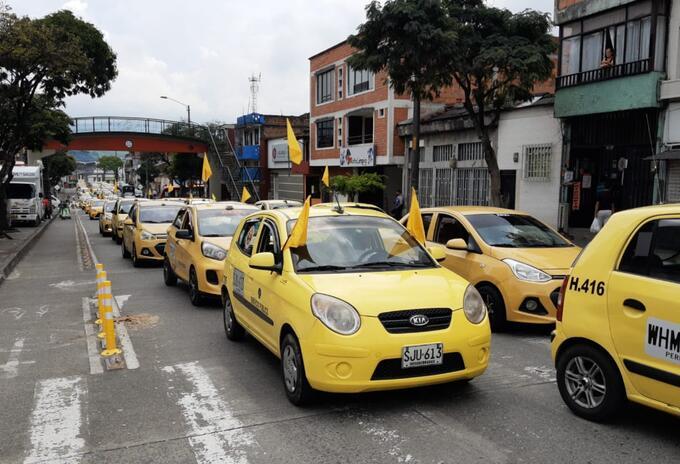 Protesta taxistas