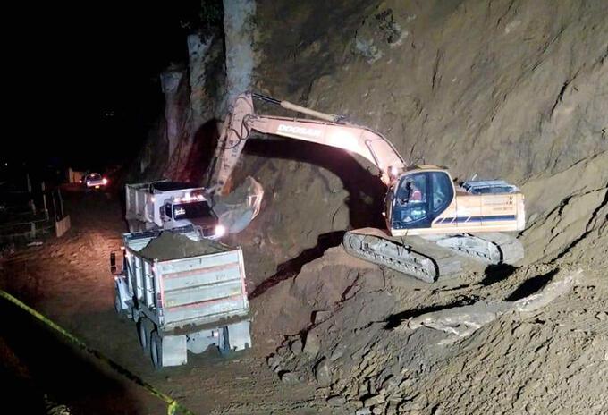 Deslizamiento km 39 vía La Línea - Invias