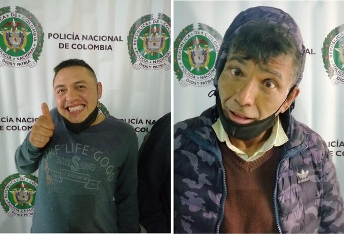 Presuntos ladrones se burlan al momento de ser presentados por la Policía