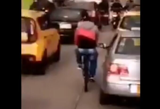 Robo en bicicleta
