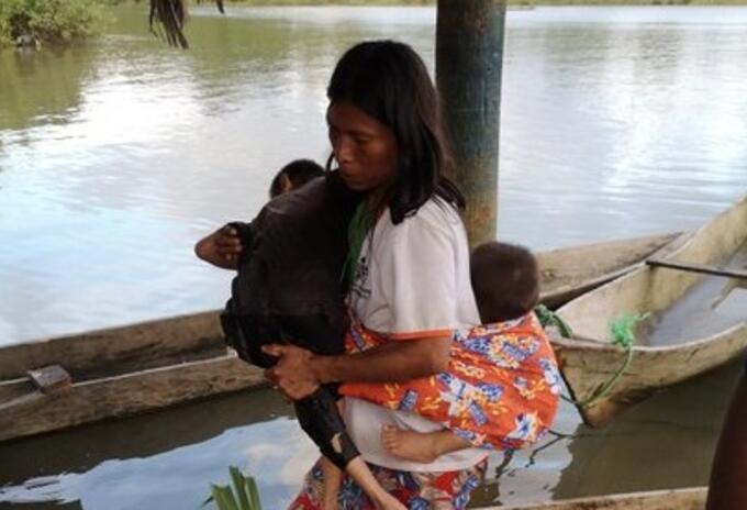 Comunidades indígenas desplazadas en Bahía Solano, Chocó