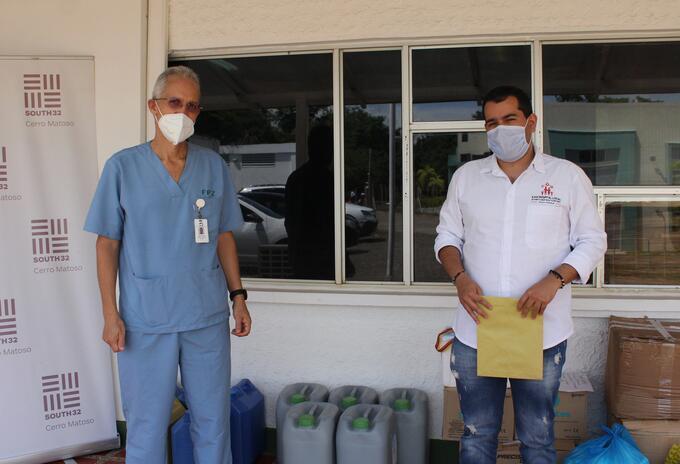 Las ayudas se entregan el hospital de Puerto Libertador.