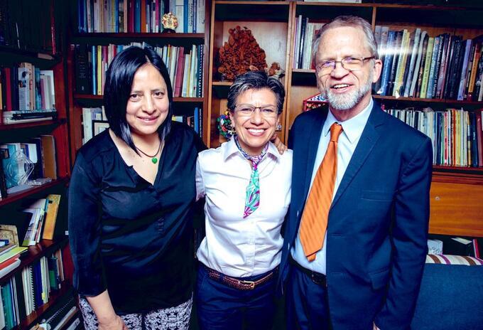 Adriana Córdoba, Claudia López y Antanas Mockus.