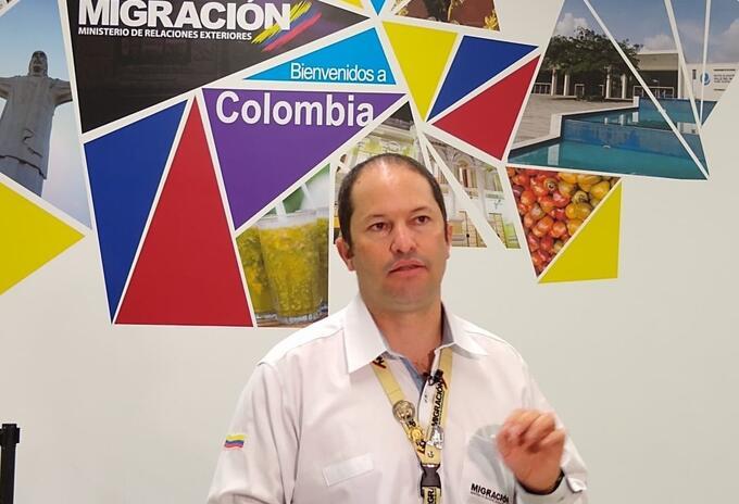 Juan Francisco Espinosa, directo de Migración Colombia.