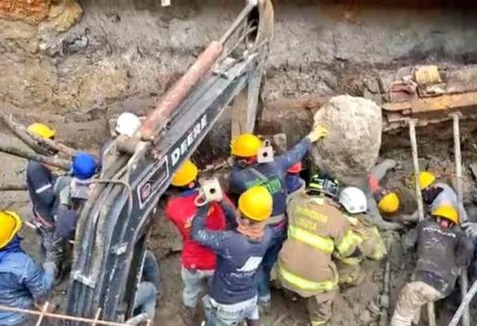 Caída de muro en el norte de Bogotá
