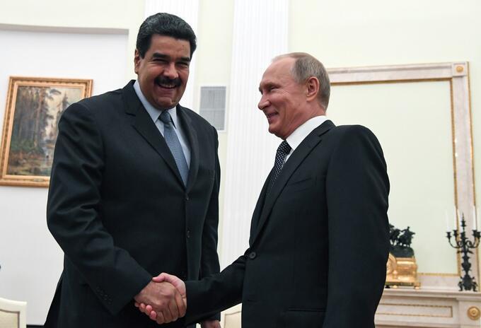 Nicolás Maduro y Vladimir Putin en 2017