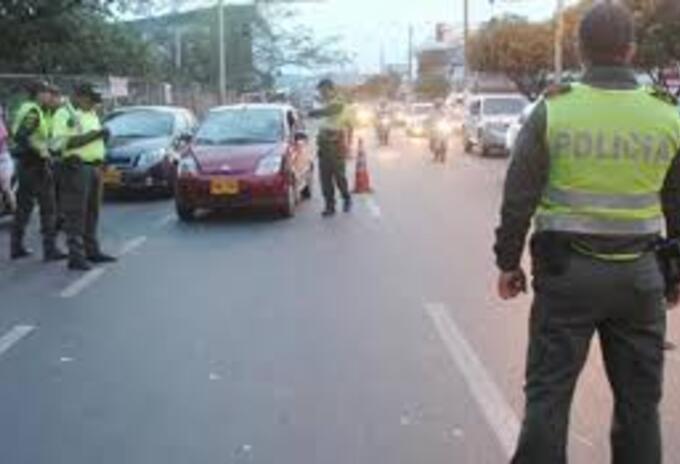 Control de la Policía en Norte de Santander