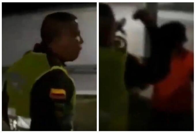 Policía insulta a mujer en Barranquilla