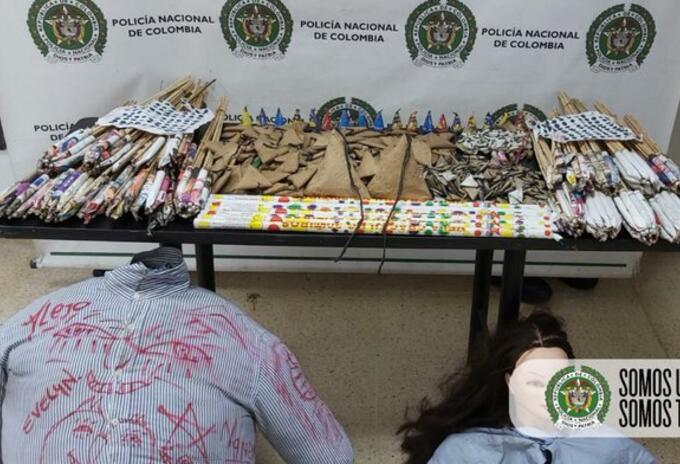 Pólvora incautada en Medellín