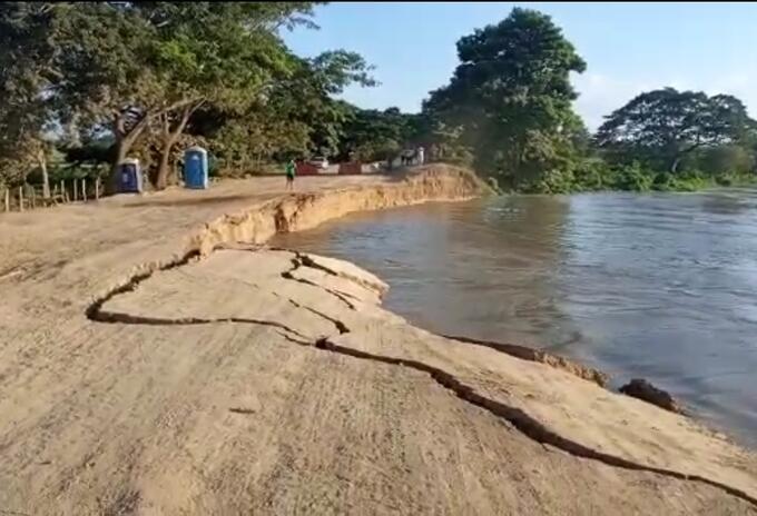 Sigue la preocupación por parte de los habitantes y autoridades por la presión que sigue haciendo el río Magdalena