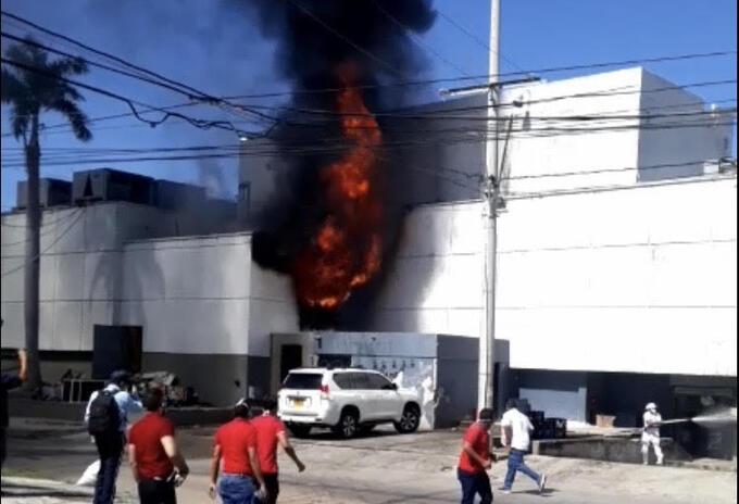 El cuerpo de bomberos logró controlar la conflagración.